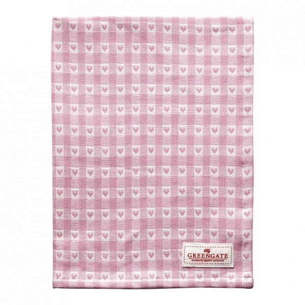 GreenGate Geschirrtuch Heart Petit Pale Pink