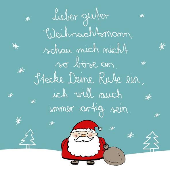 Papierserviette Lieber guter Weihnachtsmann