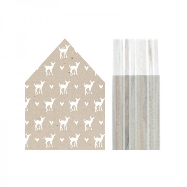 """Dots Lifestyle, Holzhäuschen """"Deer"""" with Hearts, beige, klein"""