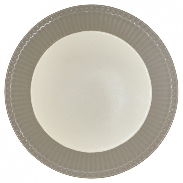 GreenGate Teller / Plate, Alice Warm Grey
