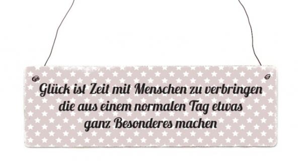 """Holzschild """"Glück ist Zeit..."""""""