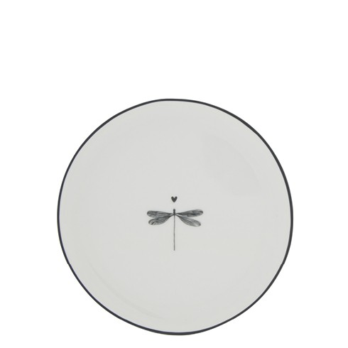 Bastion Collections Teller / Cake Plate White / Dragonfly