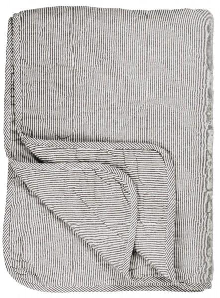 Ib Laursen Quilt, grau gestreift
