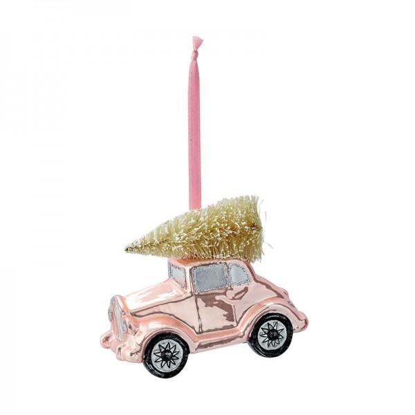 Greengate XMas Car glass Nicoline pale pink