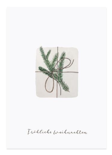Eulenschnitt Postkarte Geschenk
