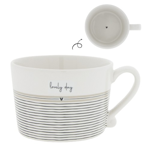 Bastion Collections Cup White / Stripes Lovely Day