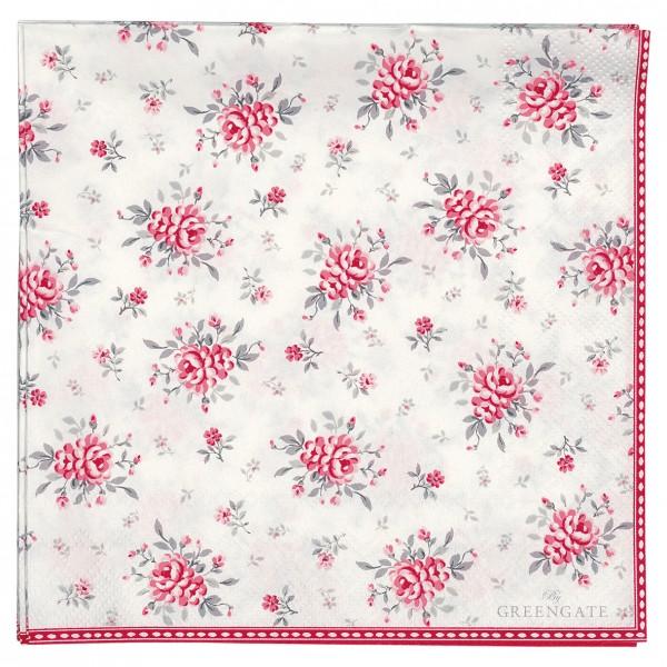 GreenGate Papierserviette Flora White