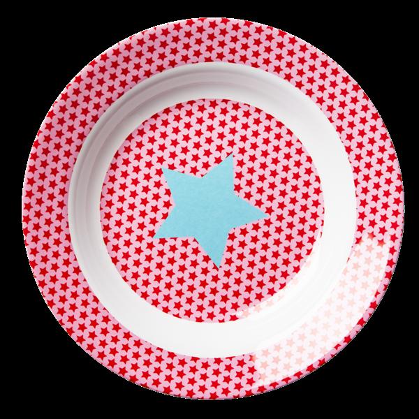 Rice Kleine Kinderschüssel aus Melamin, Girls Star Print