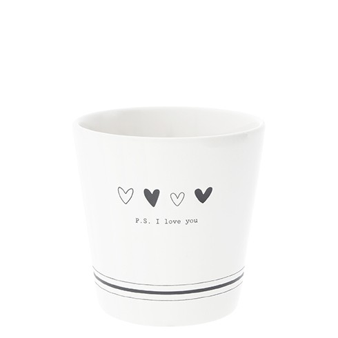 Bastion Collections Becher / Mug P.S. I love you in Black