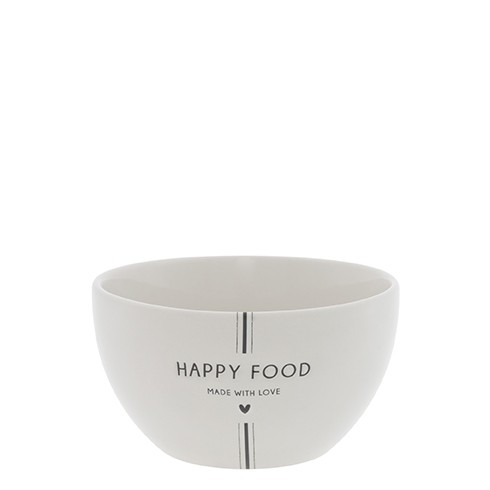 Bastion Collections Schale/Bowl White / Happy Food in Black