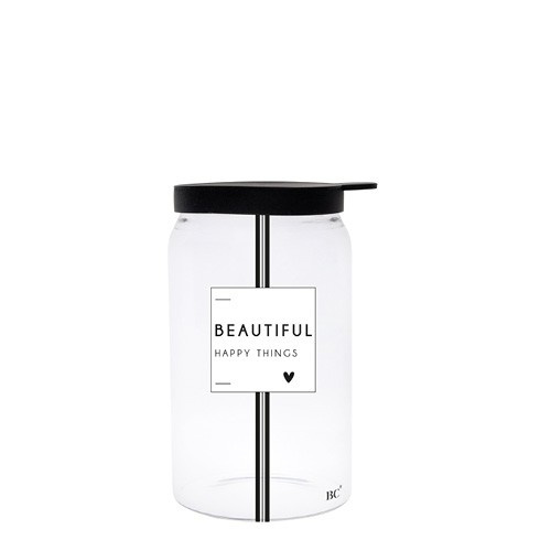 Bastion Collections Vorratsglas Beautiful happy Things, klein