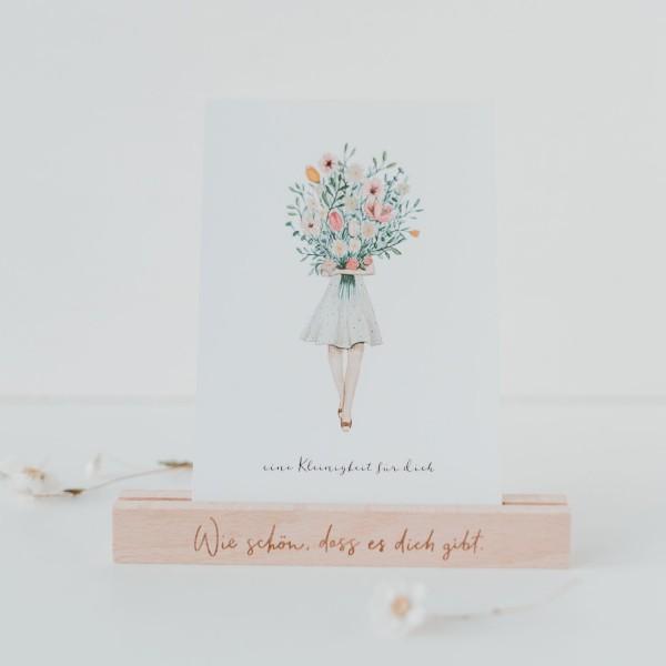 Eulenschnitt Postkartenständer Wie schön, im 2er Set, 15 cm