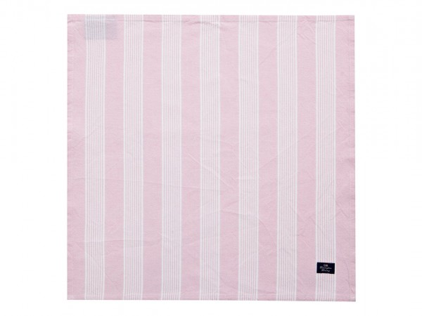 Lexington Striped Napkin, Pink/White