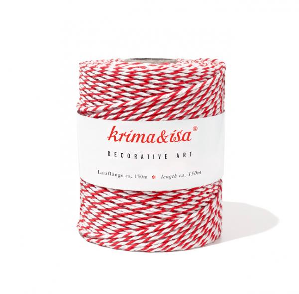 Krima & Isa, Bäcker-Garn/Kordel, rot/weiß
