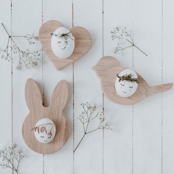 Eulenschnitt Eierbecher Hase