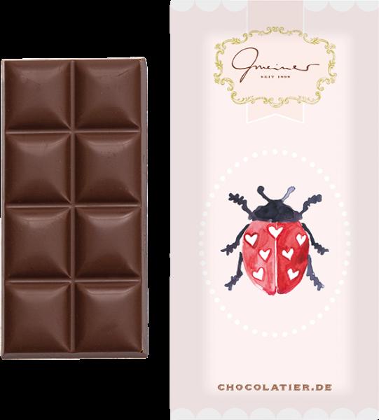 """Vollmilchschokolade """"Marienkäfer"""", 45 g"""