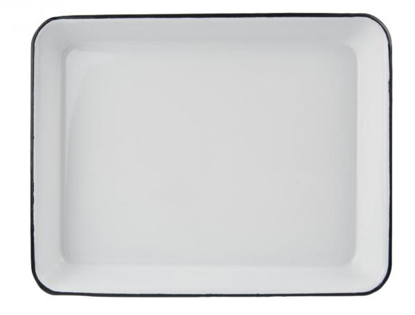 Ib Laursen Emaille Tablett rechteckig, groß