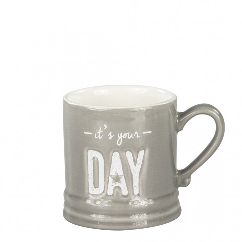 Bastion Collections Tasse / Mug Small It's your day in White