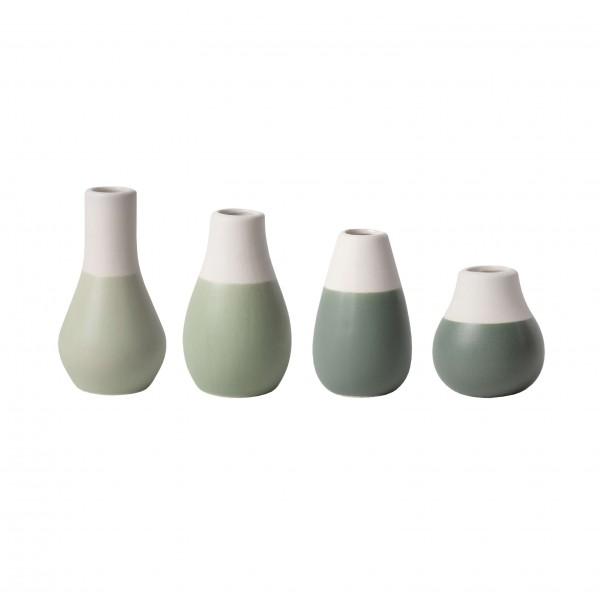 Räder Mini-Vasen im 4er Set in Grün