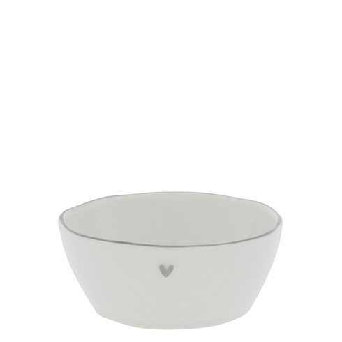 Bastion Collections Schale/Bowl Sauce with Heart in Grey