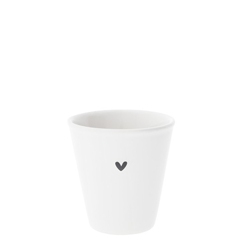 Bastion Collections Espresso Paperlook White / Heart in Black