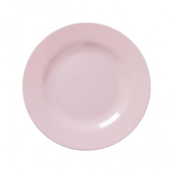 Rice Melamin Teller, Soft Pink