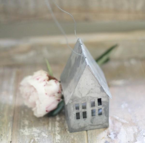 """Haus aus Metall """"Zink"""", klein (10 cm)"""