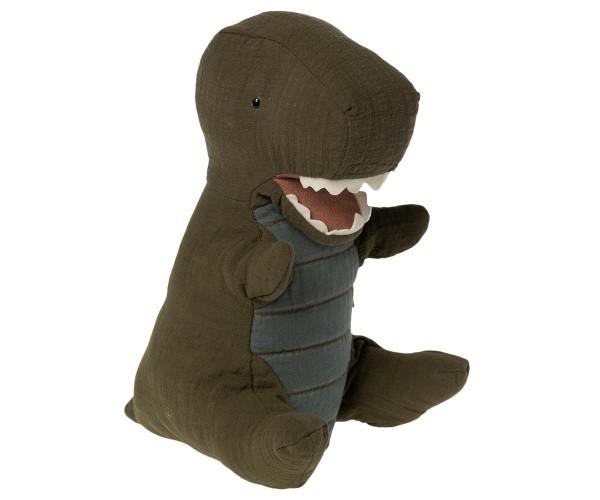 Maileg, Ganto Rex Dinosaurier, Handpuppe Medium, Dunkelgrün
