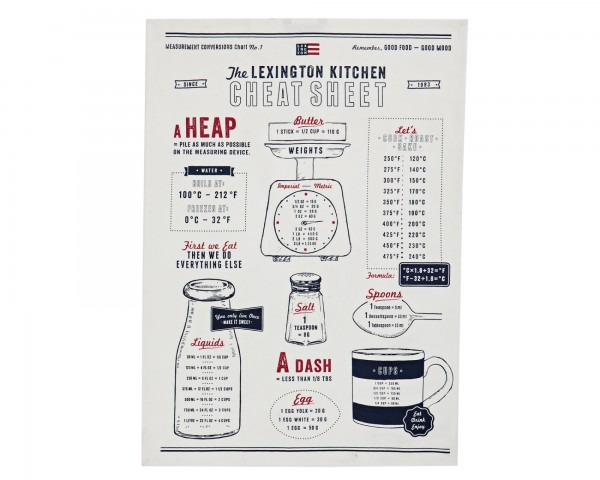 Lexington Geschirrtuch Kitchen Towel cheat Sheet