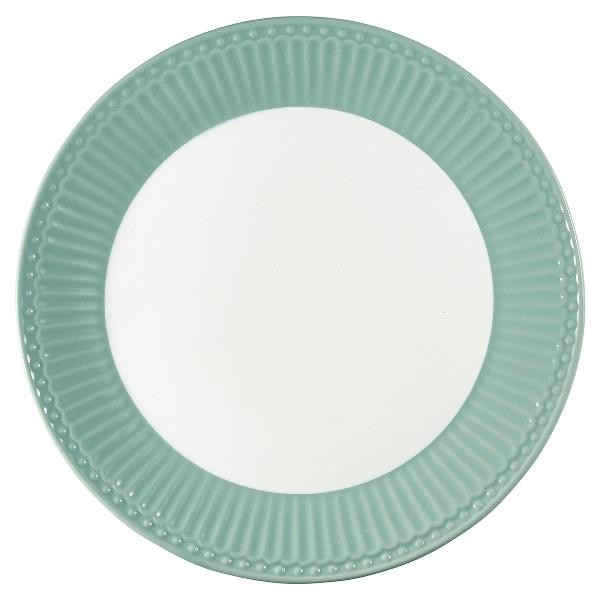 GreenGate Teller / Plate, Alice Dusty Mint