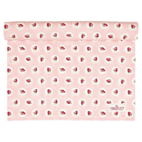 Greengate Tischläufer Strawberry pale pink