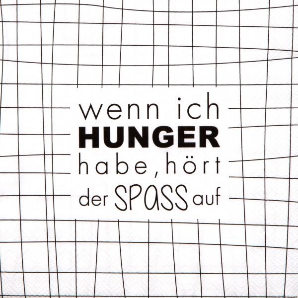 """Räder Papierserviette """"Wenn ich Hunger habe"""""""