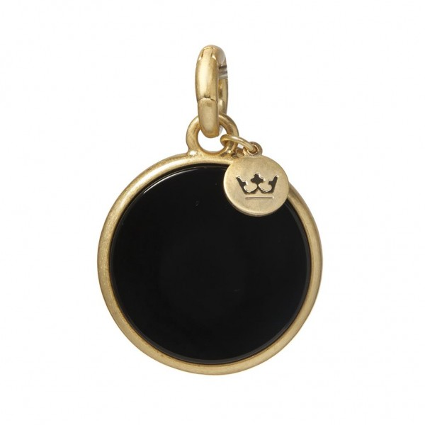SENCE Copenhagen Charm / Anhänger Disc Agate, matt gold
