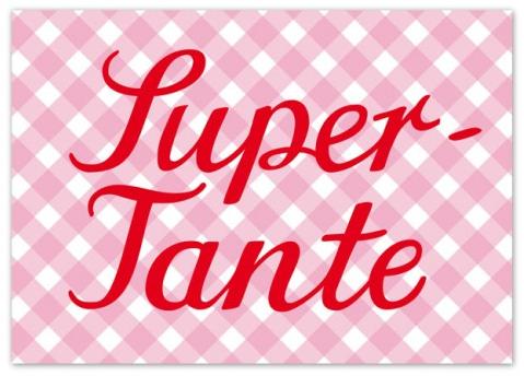 Krima & Isa Postkarte Super Tante