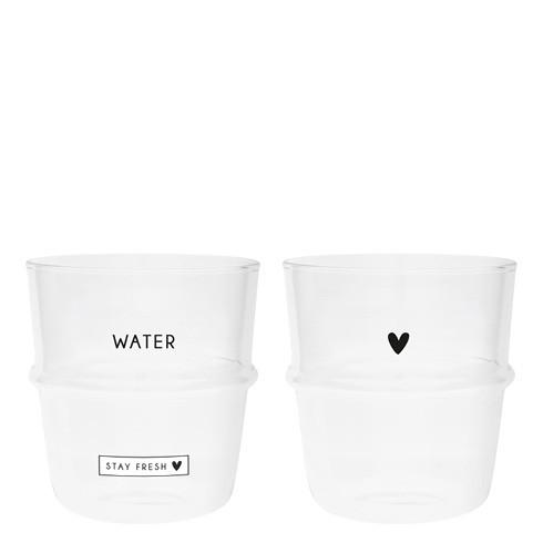 Bastion Collections Tumbler / Wasserglas Stay Fresh & Heart im 2er Set