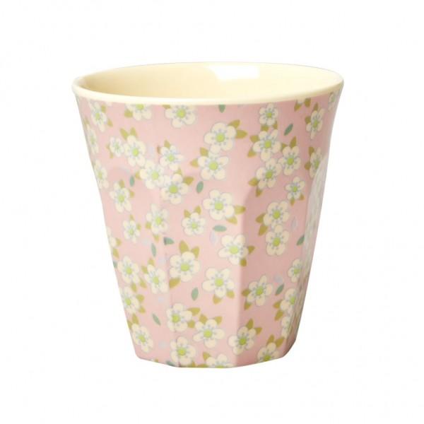 Rice Melamin Becher, Small Flower Print, rosa