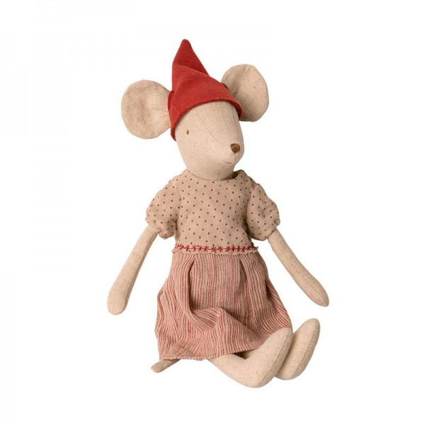 Maileg, Maus Medium Mouse Girl, Weihnachtsmaus