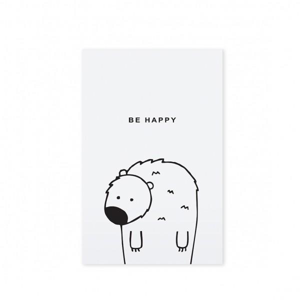 "Tafelgut, Karte ""Be Happy"""