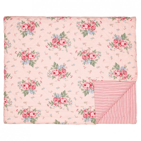 GreenGate Kleiner Quilt / Bed Cover Marley Pale Pink, 140 x 100 cm