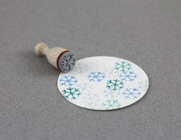 Perlenfischer Stempel Flocke gezeichnet