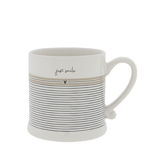Bastion Collections Small Mug White / Stripes Just Smile