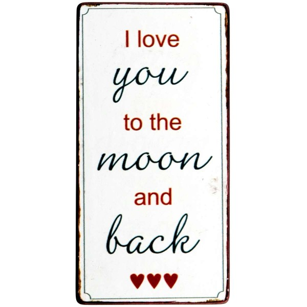 "Ib Laursen Magnet, ""I love you to the moon and back"""