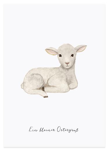 Eulenschnitt Postkarte Lamm