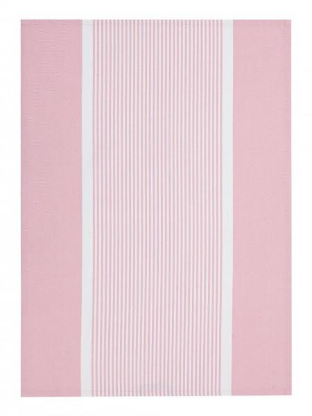 Lexington Geschirrtuch Striped Oxford Kitchen Towel, Pink/White