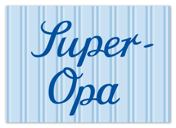Krima & Isa Postkarte Super Opa