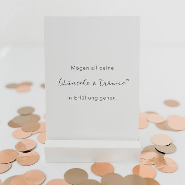 Eulenschnitt Postkarte Wünsche und Träume