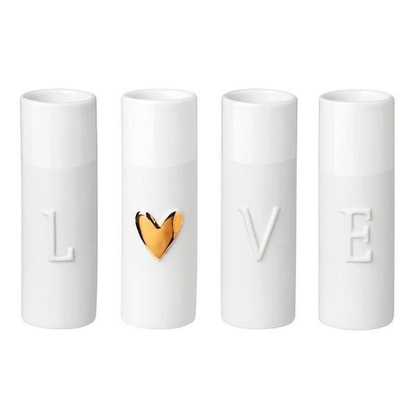 Räder Mini-Vasen LOVE im 4er Set