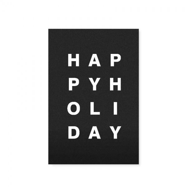 "Tafelgut, Karte ""Happy Holiday"""