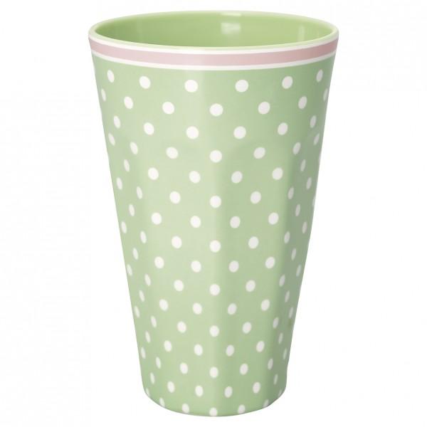 Greengate Melamin Tall Cup Spot Pale Green