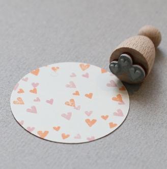 Perlenfischer Stempel Herzkonfetti
